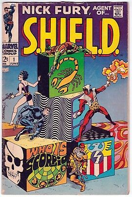 Nick Fury Agent Of Shield #1 G+ 2.5 Jim Steranko Art First Issue!