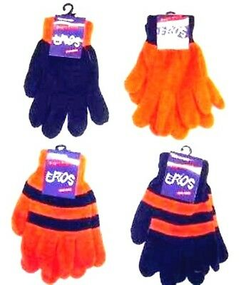 Orange & Blue Magic Gloves Pack of 2 Pair One Size Fits All Broncos Team Colors