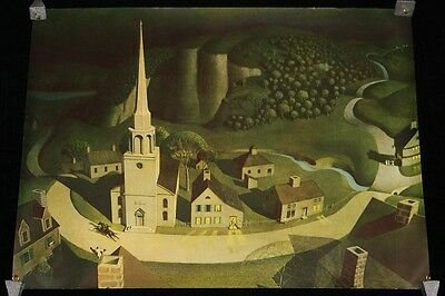 """Vintage Poster """"The Midnight Ride of Paul Revere"""" by Grant Wood c.1931"""