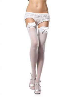 Sheer Thigh Highs With Gorgeous Satin Bows