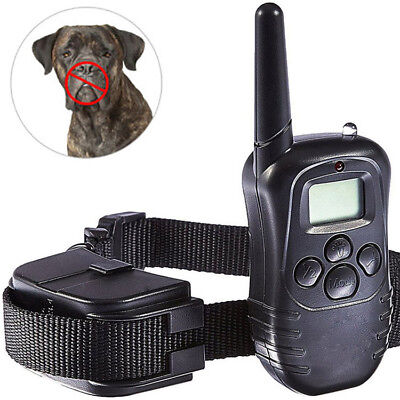 Pet Trainer Dog Training Collar LCD Electric Shock Collar With Remote Control US