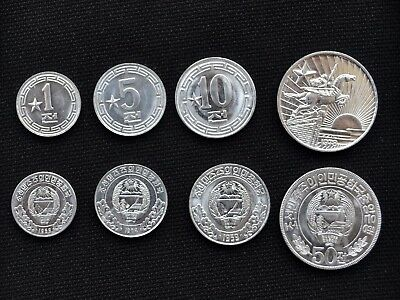 Korea coin sets. 1, 5, 10, 50 Chon, 1 star.  UNC Coins
