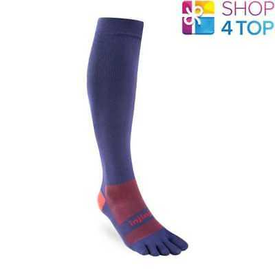 Injinji Compression Ex-Celerator 2.0 Toe Socks Navy Over The Calf Performance