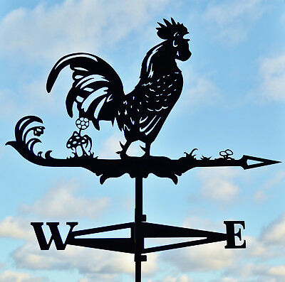 EXTRA LARGE Rooster Chicken Metal Weathervane Roof Mount Weather Vane Decor
