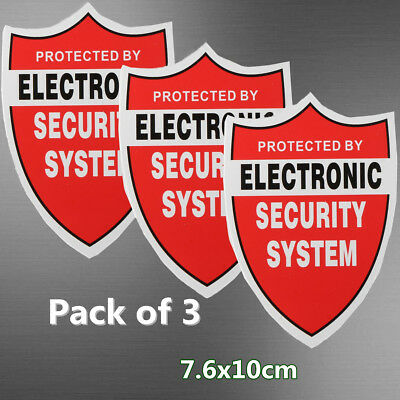 3X SECURITY SYSTEM DECALS Sticker Decal Video Warning CCTV Camera Home Alarm US