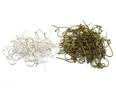 100pcs Brass French Earwire Ball End Earring Hook 16mm Ear Hooks Findings