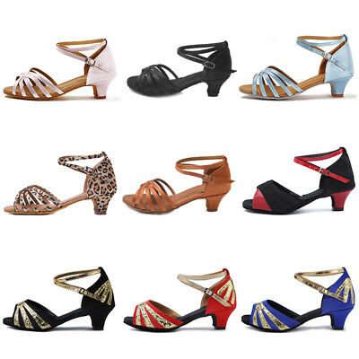 Children child Girl kids Ballroom Latin Dance shoes Salsa Tango Dancing Shoes