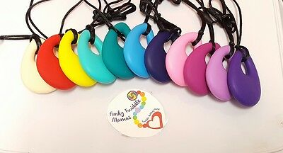 UK Teardrop sling Baby teething necklace Silicone teether autism sensory nursing