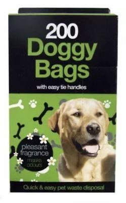 Doggy Bags Scented Pet Pooper Scooper Bag With Tie Handle Dog Cat Waste Toilet