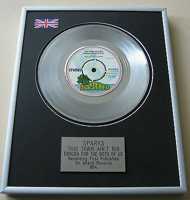 SPARKS This Town Ain't Big Enough For The Both Of Us PLATINUM DISC PRESENTATION