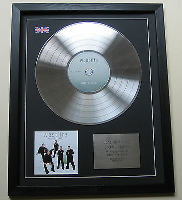 WESTLIFE Coast To Coast CD / PLATINUM LP DISC Presentation