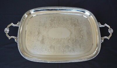 Large Cavalier Silver-plated on Brass Serving Tray