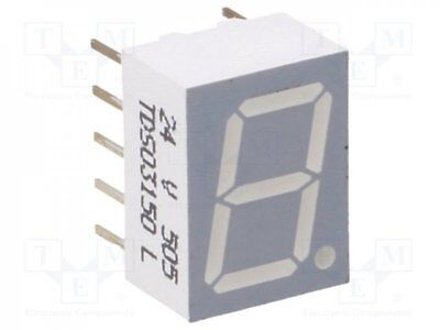 1 pcs Display: LED; 7-segment; 10mm; orange-red; 2.8-5.6mcd; anode; 0.39""