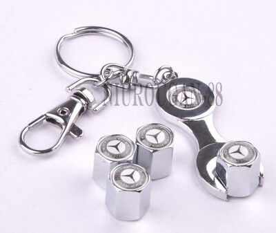 Car Accessories Keychain Tyre Dust Cover Tire Wheel Valve Cap  For Mercedes-Benz