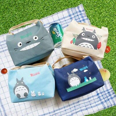Totoro Thermal Insulated Lunch Box Bag Tote Bento Pouch Lunch Container Box New
