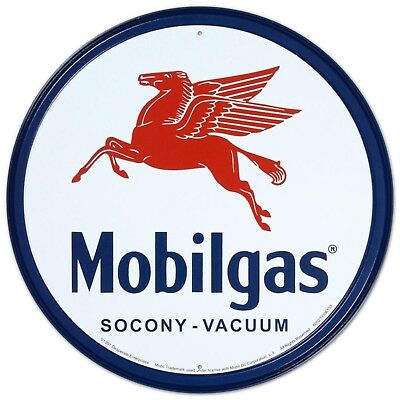 Mobilgas Pegasus Tin Sign 12 x 12in