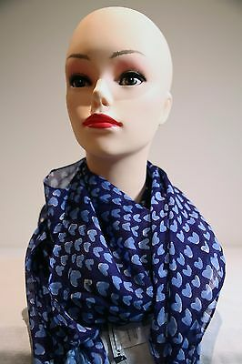 SPORTSCRAFT Robin square tassels cotton-silk scarf navy in colour new with tag
