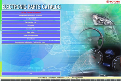 NEW TOYOTA LEXUS EPC 12.2017 spare parts for cars all regions