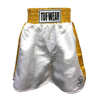 Tuf Wear Mens Mirrage Satin Pro Short White Gold
