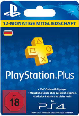 PSN Network 365 Tage PlayStation Plus Live Card 1 Jahr 12 Monate DE