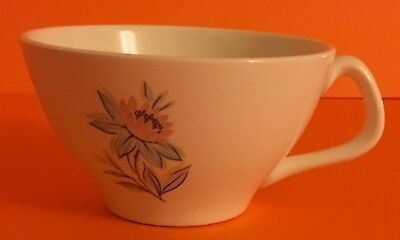 Vintage Steubenville Pottery Company Fairlane Pink Blue Flower Coffee Cup/ Mug