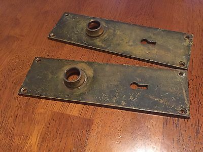 Vintage Yale Brass Door Plate Front And Back