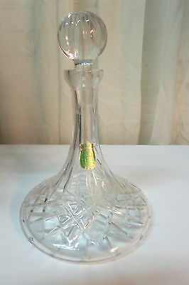 Vintage Ethan Allen Crystal Wine Decanter W/stopper Mouth Blown Hand Cut 24% Pbo
