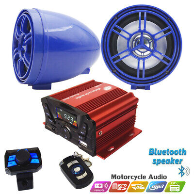 4Channel ATV/UTV Amplifier W/Bluetooth Boat Audio System Motorcycle MP3+Speakers