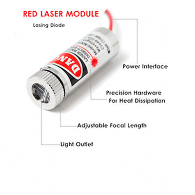 650nm 5mW Red Laser Line Module RYS1230 IIIa Adjustable Focus Flux Metal Wire UK