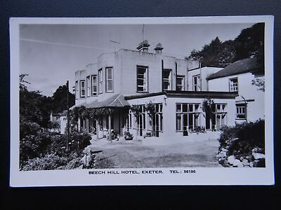Devon Exeter BEECH HILL HOTEL  - Old RP Postcard by Jerome Dessain