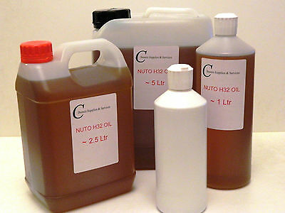 Nuto H32 Oil For Lathes - H32 Oil With  Choice Of Sizes 250Ml Up To 5 Ltr