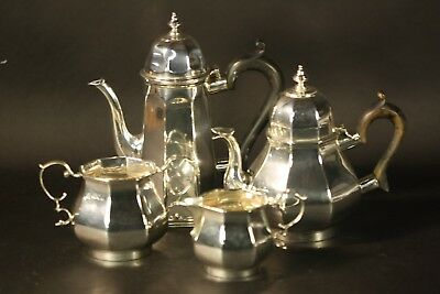 Antique Sterling Silver England English Four Piece Tea Coffee Set Hallmarked NR