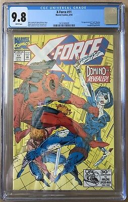X-Force #11 ⭐️ CGC 9.8 Graded ⭐️ 1st First Real Domino ⭐️ 3rd Deadpool HOT