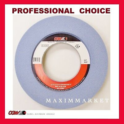"12"" x 1-1/2"" X 5"" CGW Premium Blue AO, T-5, Grinding Wheel, Choice of Grit"
