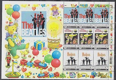 THE BEATLES UKRAINE PERSONALISIERTER KLEINBOGEN ** (mnh) (4)
