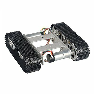 T100 9V Aluminum Alloy Silver Smart Crawler Chassis Car Kit For Arduino 5KG Max