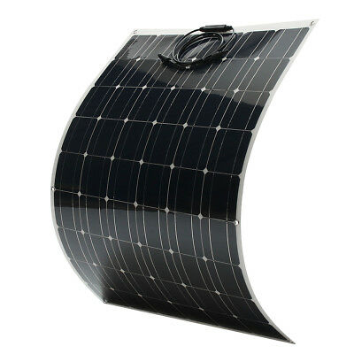 170W 18V Semi-Flexible Solar Panel Battery Charger For Caravan Boat Motorhome