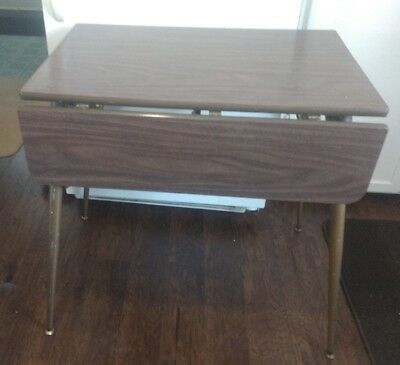 Vintage RETRO Formica Drop-Leaf Table - Apt. or Condo Size