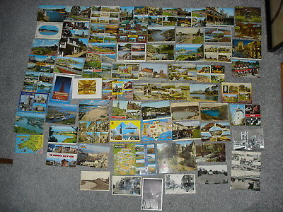 Collection Of 71 Old Vintage Colour & B&W UK Coast Town Postcards