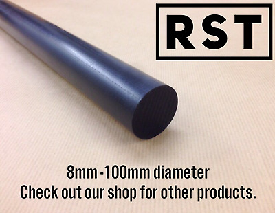 Acetal Pom Delrin Black Rod Round Bar 8-100Mm Diameter Engineering Plastic