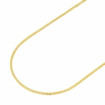 Solid 14K Yellow Gold 1.7mm Franco Chain Necklace 20""