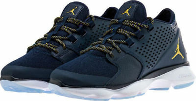 big sale df76e dc94f NEW 833969-405 Men s Jordan Flow Shoes!!! OBSIDIAN MTLC GOLD
