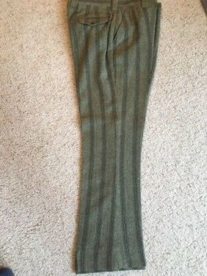 Vtg 1970s mens striped herringbone pants flair