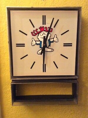 Vintage HAWAIIAN PUNCH CLOCK ~ Punchy Food Advertising Rare Works