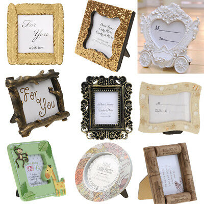 Creative Resin Stand Photo Picture Frame Table Decor Party Baby Shower Favor