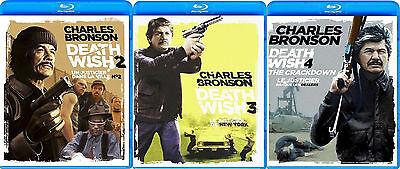 Death Wish 2, 3, 4 (Charles Bronson) *New Blu-Ray Pack*