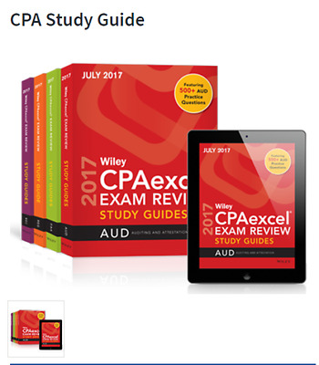 July 2017 Wiley CPAexcel Guides/ CPA Exam - Complete Set READ!