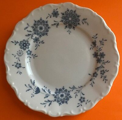 Christina Porcelain Seltmann Weiden W. Germany Bavarian Blue Bread /Butter Plate