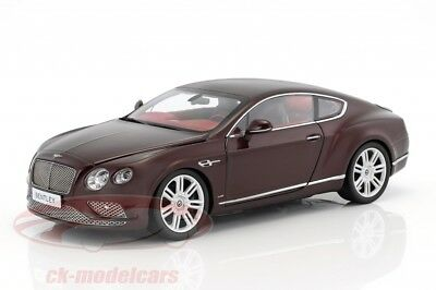Paragon 1/18 2016 Bentley Continental GT Coupe (LHD) Burgundy PA-98221L