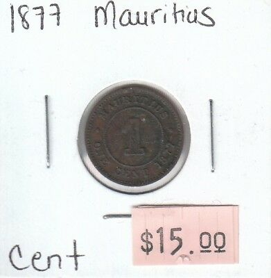 Mauritius 1 Cent 1877 Circulated